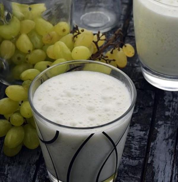 Grape and Vanilla Ice Cream