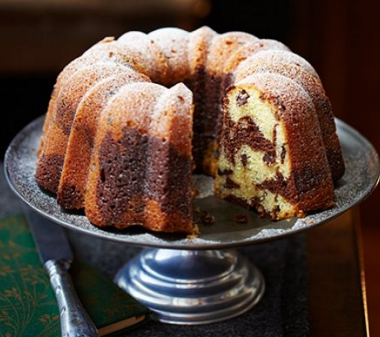 Chocolate & Almond Marbled Bundt Cake