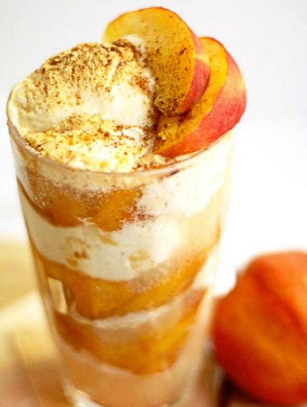 Peach Pie Ice Cream Float