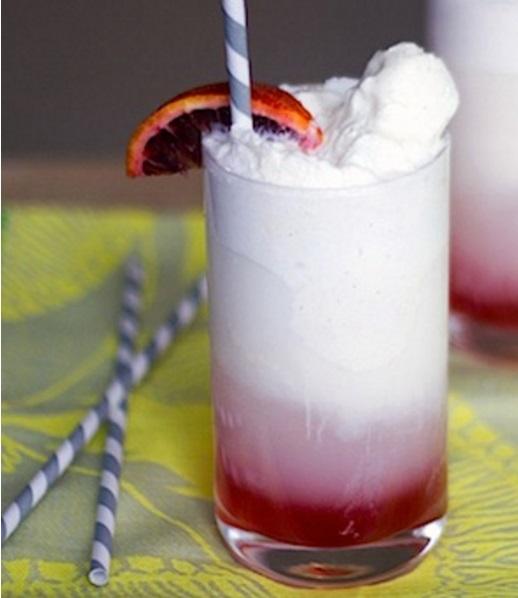 Blood Orange Ice Cream Soda