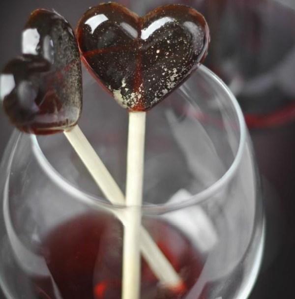 Red Wine Lollipops