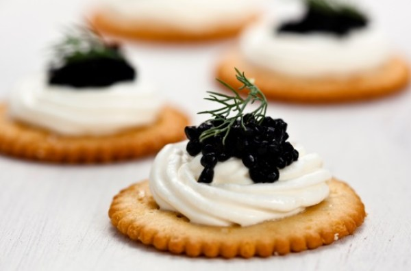 Caviar on Ritz