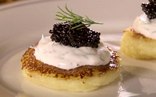Potato Blini with Caviar