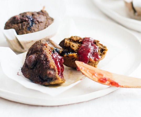 Beetroot & Blueberry Muffins