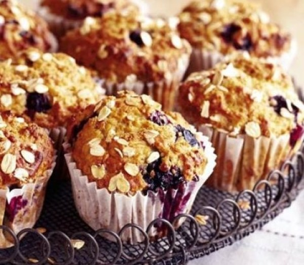 Banana & Blueberry Muffins