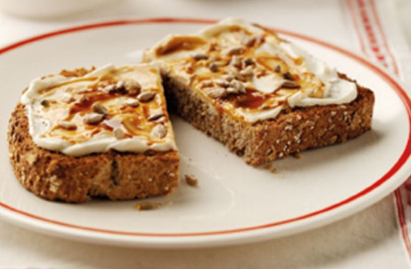 Soft Cheese & Marmite on Toast