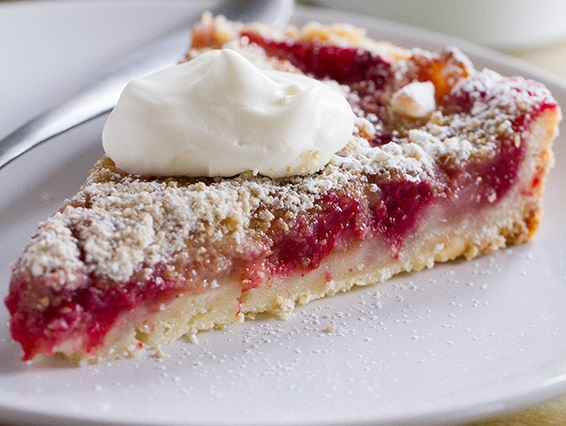Pear and Raspberry Tart