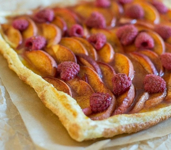 Peach and Raspberry Tart