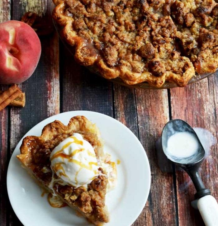 Maple, Bourbon & Brown Butter Peach Pie