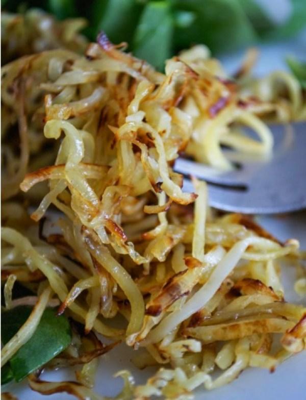 Sweet Potato & Garlic Julienne Fries