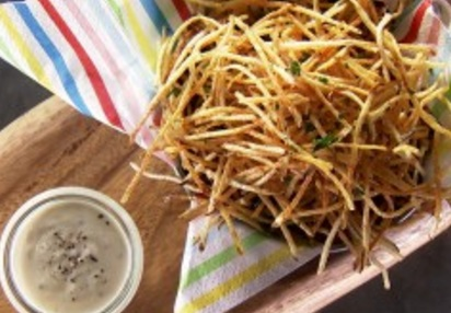 Julienne Fries with Truffle Aioli