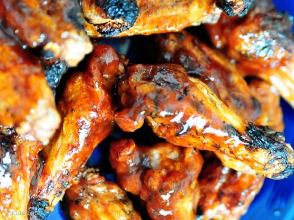Peach BBQ Chicken Wings