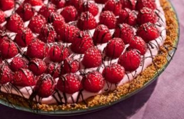 Chocolate & Raspberry Cream Pie