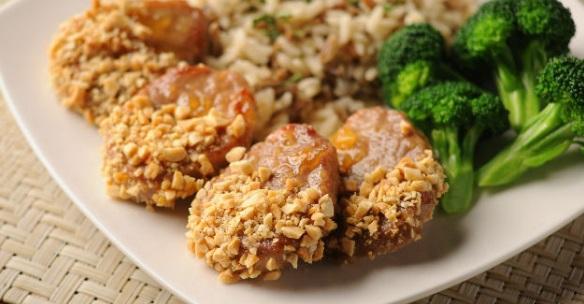 Crunchy Peanut Chutney Pork