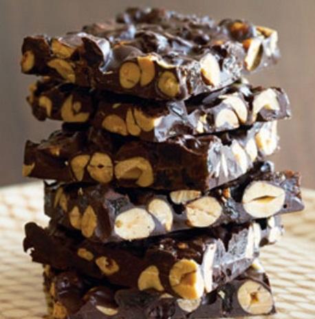 Peanut & Raisin Chocolate Bark