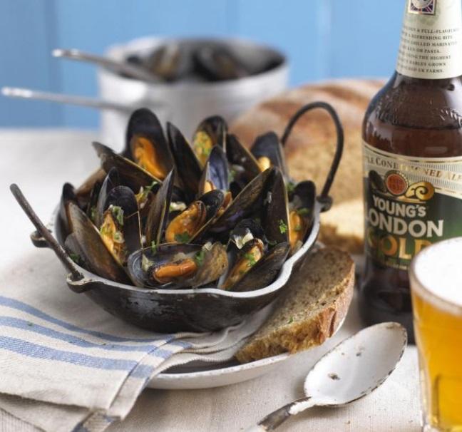 Mussels Steamed in Beer