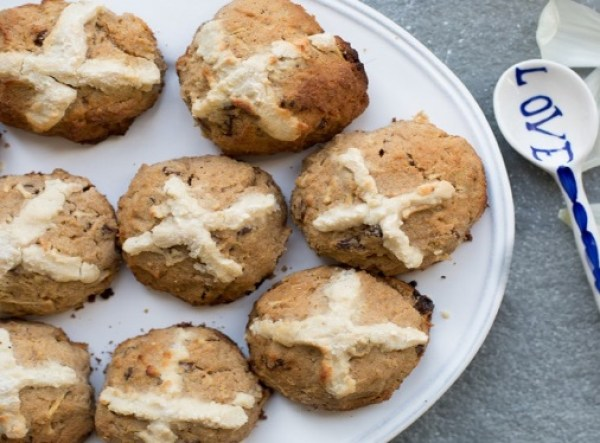 Paleo Chia Hot Cross Buns