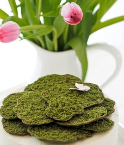 Edible Moss Cookies
