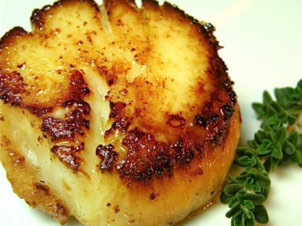 Butter-Fried Sea Scallops