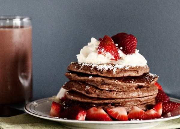 Chocolate Milk Pancakes