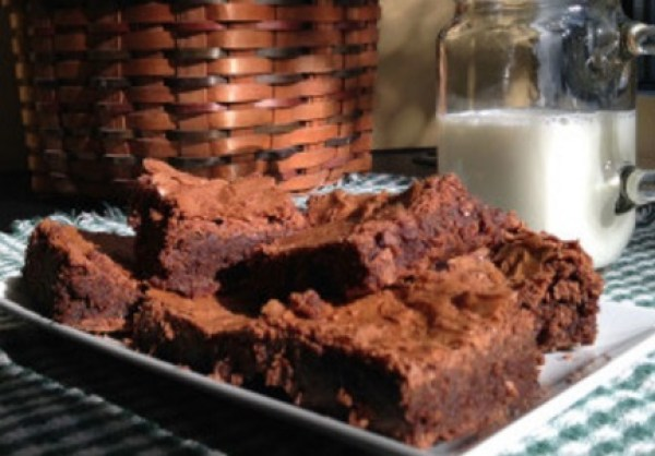 Midnight Chocolate Milk Brownies