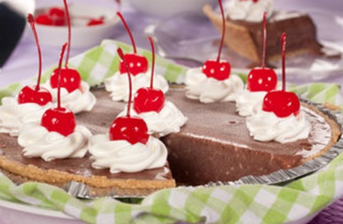 Cherry and Chocolate Milkshake Pie