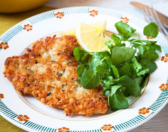 Lemon and Thyme Pork Wiener Schnitzel