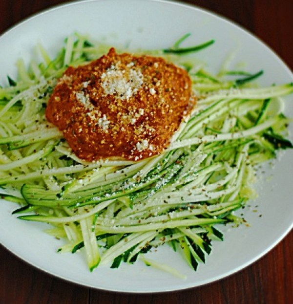 Zucchini Noodles With Vodka Sauce