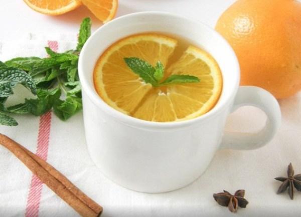 Homemade Orange Ginger Mint Tea