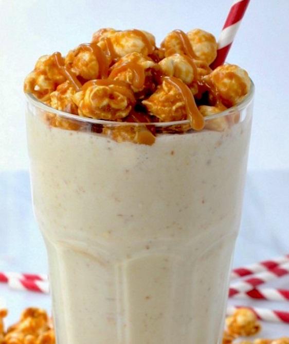 Sweet 'n' Salty Caramel Popcorn Milkshake