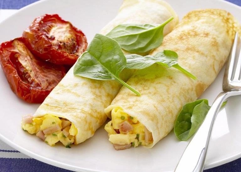 Ham & Egg Filled Crepes