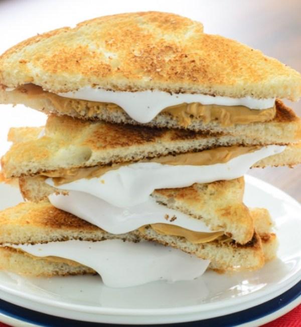 Toasted Fluffernutter Sandwich