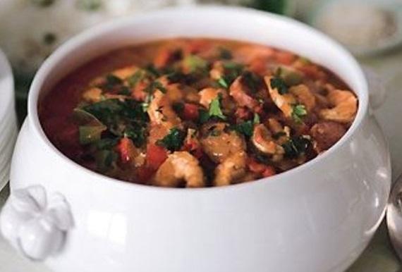 Shrimp, Chicken, and Andouille Gumbo
