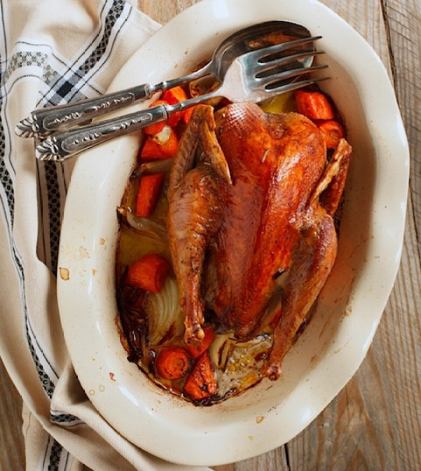 Buttered Roast Pheasant With Cream and Bourbon
