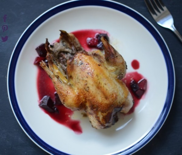 Roast Pheasant With Pickled Beetroot