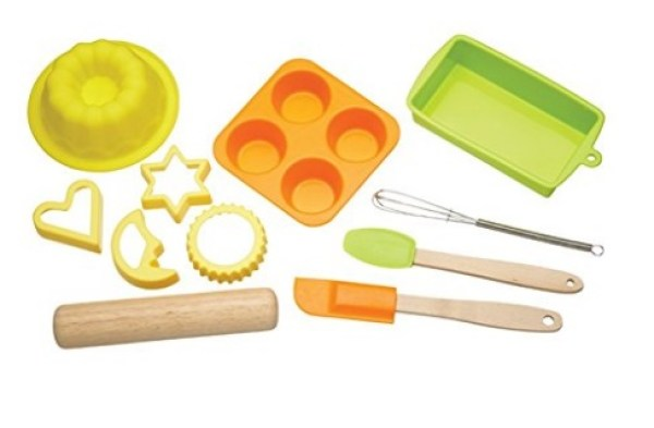Children's 11-Piece Silicone Bakeware Set