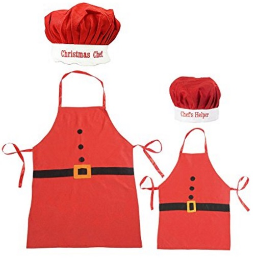 """Christmas Chef"" Novelty Apron and Chef's Hat Set"