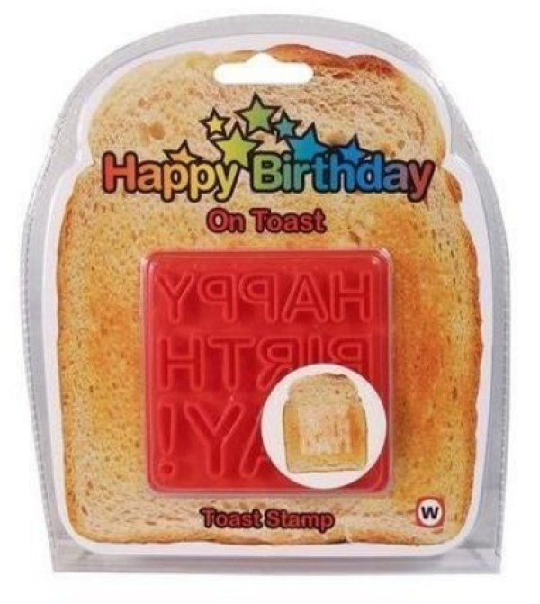 Happy Birthday Bread Stamp