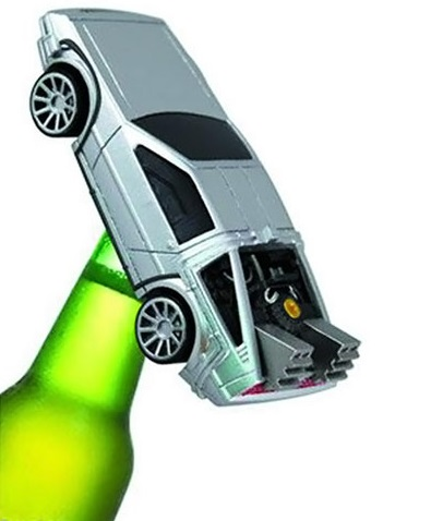 DeLorean Novelty Fun Bottle Opener