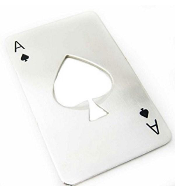 Stainless Steel Card Novelty Fun Bottle Opener