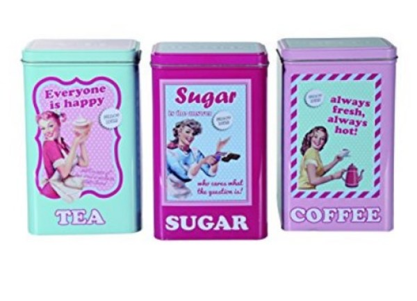 Retro Mum Coffee, Tea & Sugar Canisters