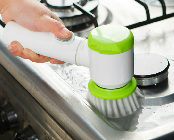 Electric Oven and Sink Cleaning Brush