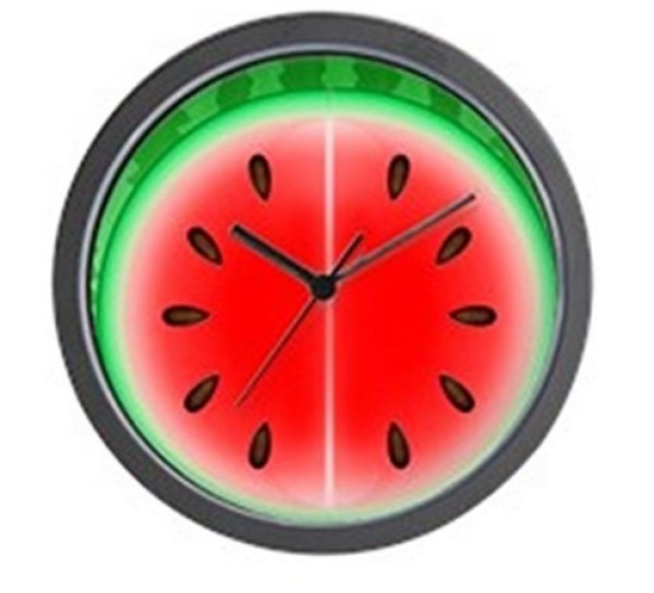 Watermelon Slice Kitchen Wall Clock