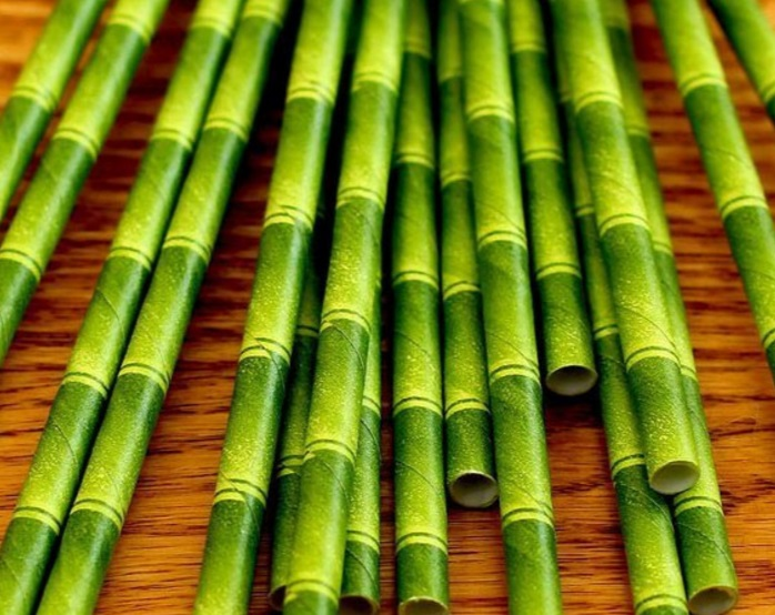 Bamboo Paper Drinking Straws