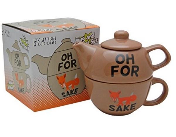 For Fox Sake Tea Pot and Cup Set