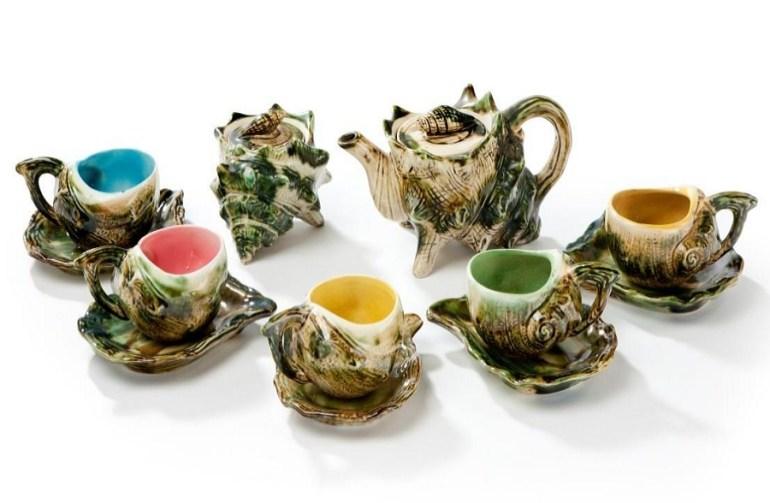 Seashells Tea Cup and Saucer