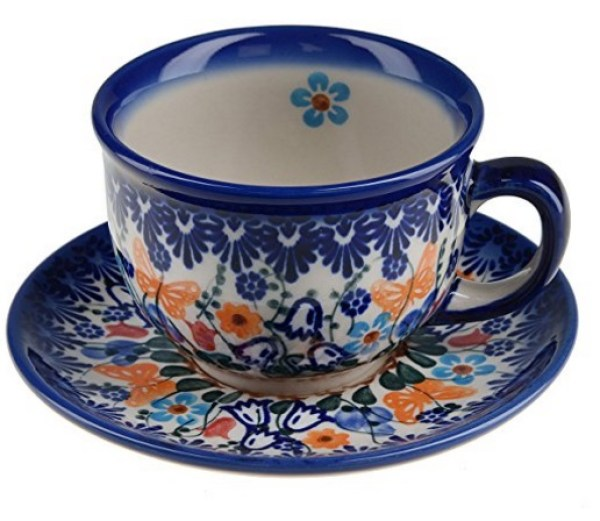 Classic Boleslawiec Pottery Tea Cup