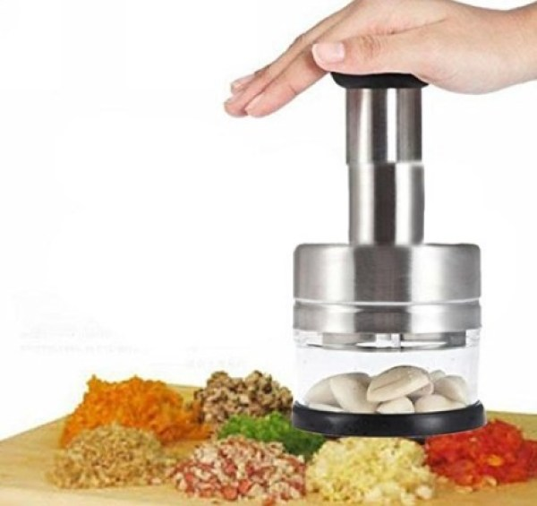 Stainless Steel Push-Down Vegetable Cutter/Dicer