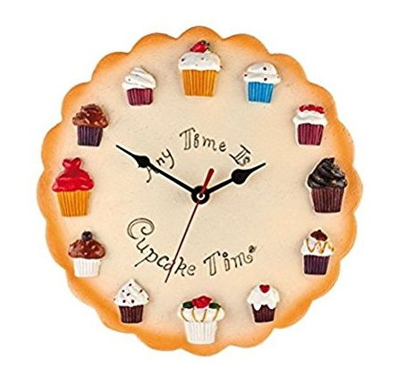 Cupcake Design Kitchen Wall Clock
