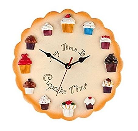 Cupcake Design Kitchen Wall Clock